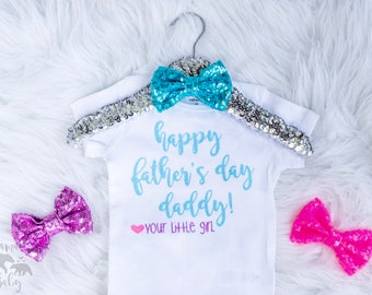 Baby Girl's Personalized Father's Day Onesie Outfit, Happy Fathers Day Daddy, Toddler Outfit, Daddy's Day, 1st Fathers Day Shirt