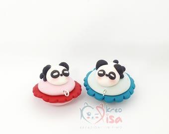 Bad Panda kawaii/female | 100% Fimo | Polymerclay | Charm