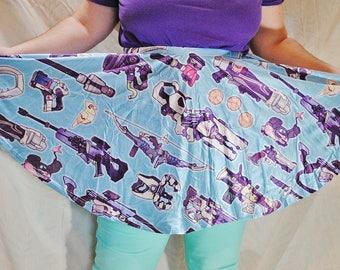 Weapons Pattern Skater Skirt