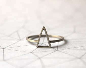 Triangle stacking Ring - Sterling Silver