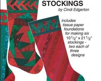 "Holiday Stocking Sewing Pattern 10.5"" x 21.5"""