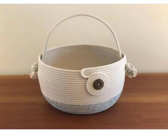 Large rope coil basket - stylish storage - handbag - home decor - made to order