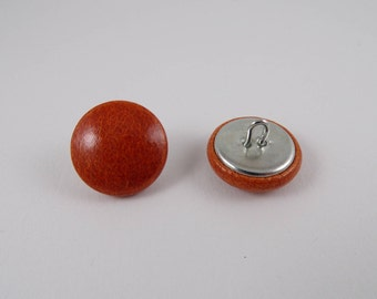 Rust patent leather 20mm-6 covered buttons
