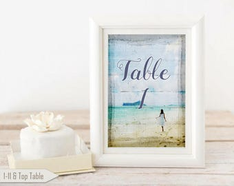 Retro Beach Summer Table Numbers Nautical Wedding Venue Decorations Seaside