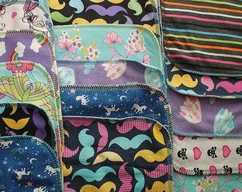 Half Dozen Girl Assorted Cloth Wipes