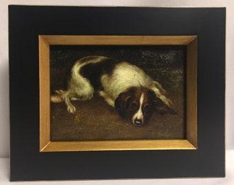 """Framed Oil Painting 8""""x 10"""" Dog"""
