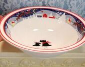 Vintage Noritake China Twas The Night Before Christmas Serving Bowl Noritake Christmas Dinnerware Holiday Home Dining Decor Kitchen & Items similar to Vintage Noritake China Twas The Night Before ...