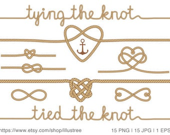 Tying the knot, wedding invitation, wedding clip art, photo overlay, anchor digital clip art, nautical, commercial use, png, jpg, EPS, SVG