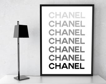 Coco Chanel Decor, Fashion Wall Art, Fashion Poster, Chanel Wall Art Coco Chanel print Coco Chanel Poster Chanel Inspired Modern Fashion Art