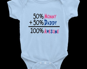 50 Percent Mommy INFANT Short-Sleeved ONESIE.  Get this adorable onesie today!