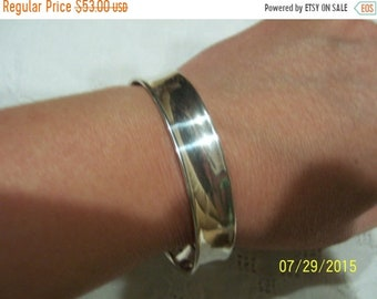 SUMMER SALE 20% OFF, Vintage Cuff. Sterling silver.