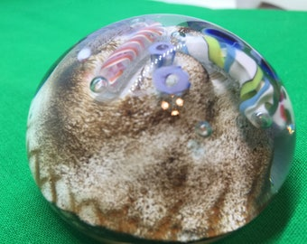 American Studio Art Glass Bellhouse Signed Paperweight 1986