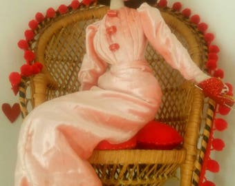 SALE April - Valentina - Vintage Valentines 1940s/1950s Inspired Cloth  Display Doll