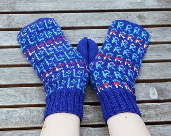 Knitting Pattern - Annapurna Left and Right Mittens