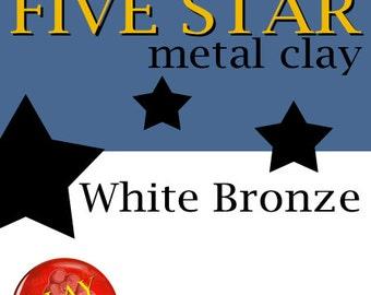 Five Star White Bronze Clay 25g kiln firable