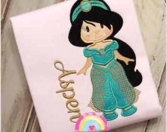 Arabian Princess  - Girls Princess Shirt- Girls Princess Shirt- Girls Princess - Princess Shirt - Personalization Available
