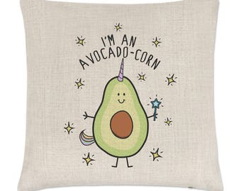 I'm An Avocadocorn Linen Cushion Cover