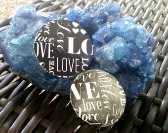 LOVE- Handmade Wooden Earrings