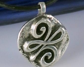 Celtic Symbol of Serenity Fine Silver Pendant Gift - Celtic Viking Serenity Pendant - Celtic Symbol Serenity - Silver Celtic Serenity Gift