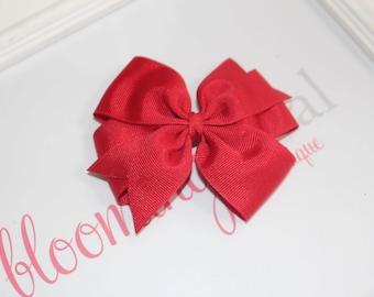 """Red Large 4"""" Pinwheel Bow"""