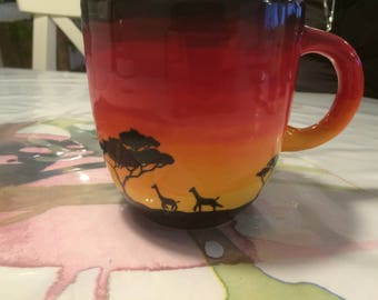 Mug with African silhouette