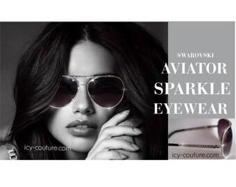 ADRIANNA style ICY Couture Aviators Swarovski Crystals