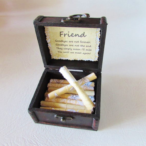 Friend Goodbye Gift Friend Going Away Gift Long Distance Friend Goodbye Quote Friend Quote Best Friend Gift Scroll Box FlirtyCreations