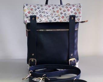 Backpack-bag leather