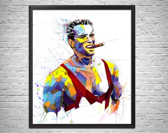 Arnold Schwarzenegger Art Print - Bodybuilding Fitness - Abstract Modern Portrait Print - Digital Painting - Color or Grayscale