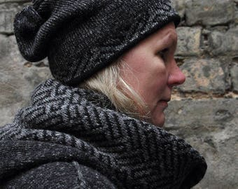 Knitted infinity scarf,winter accessories,soft and casual Valentines Day gift,lovely gift for him,comfort life.