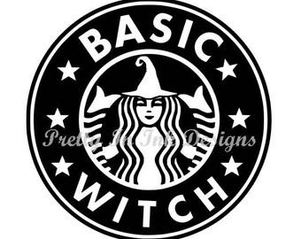 Basic Witch Starbucks Like Decal