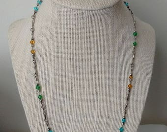 Vintage Boho Multi Colour Necklace