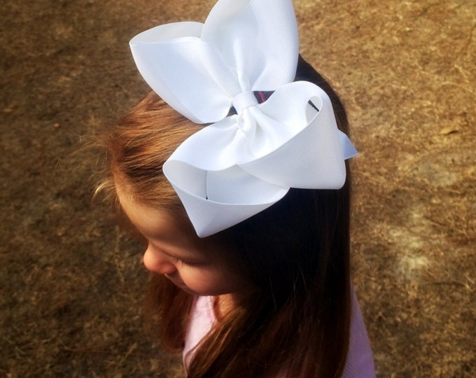 Extra large hair bow, Big hair bow for girls, Baby headband, Toddler hair bow, You choose colors, Hair Clips, Headband, Pony tail holder