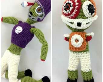 Zombie Crochet Pattern, Zombie Pattern, Amigurumi Pattern, Crochet Monster, Zombie Football Players