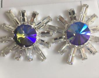 Purple Sunshine. Swarovski Crystals.