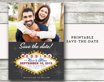 Las Vegas Save the Date - Vegas Wedding - Printable DIY