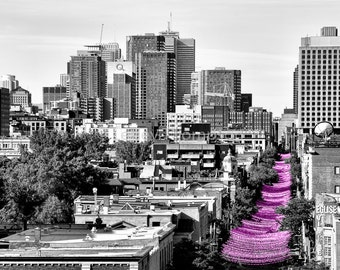 Pink in the City - Montréal - Fine Art Print - Photograph - Wall Art - Decor
