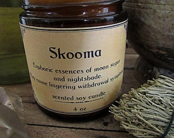 Skooma - 4 oz Skyrim themed soy wax candle