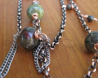 Dragons Blood Jasper and Copper Necklace