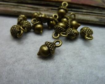 50PCS 6x8x13mm Antique bronze pine cone pine tree fruit pendant Jewelry findings wholesale bc7917