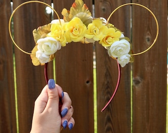 Disney Inspired Fairy Ears | Tinkerbell Ears | Fairy Mickey Ears | Fairy Minnie Ears | Disney Wire Ears | Disney Headband | Disney Floral