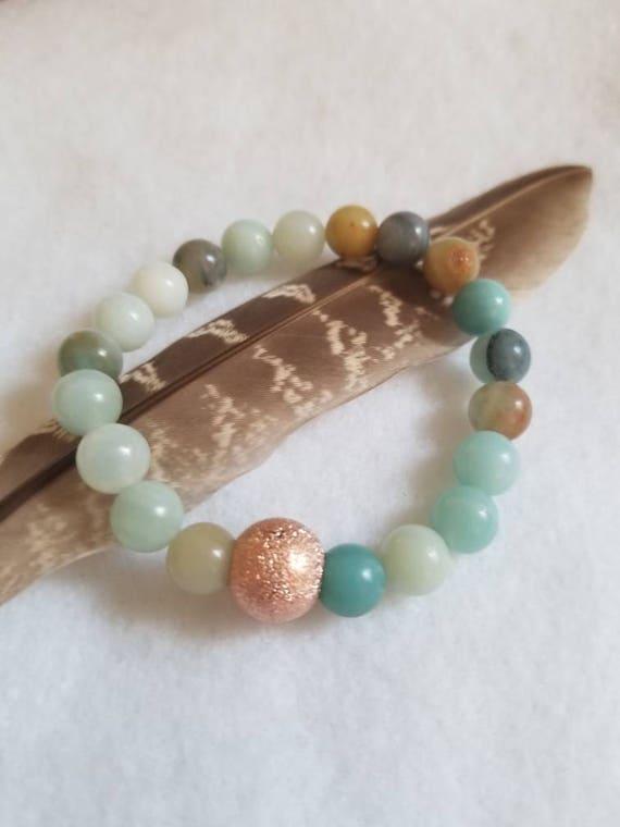 Serenity: Reiki Attuned Amazonite Healing Bracelet
