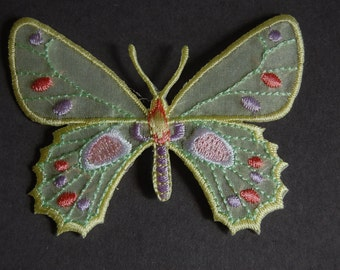 2pc - Yellow Butterfly Applique