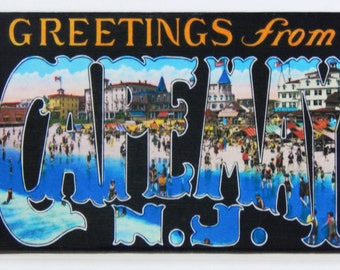 Greetings from Cape May New Jersey Fridge Magnet