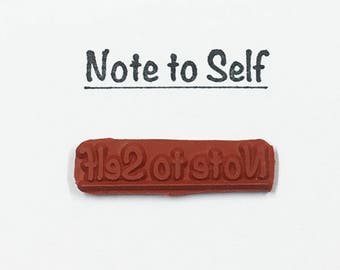 Note To Self - Altered Attic Rubber Stamp - Funny Humor Quote Save The Date Greeting Card Gift - Art Craft Scrapbook Mixed Media Collage ATC