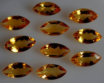 7x14 mm natural citrine marquise  faceted  loose gemstone AAA quality
