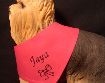 Scarf tie to be personalized for your dog XXS-S-M