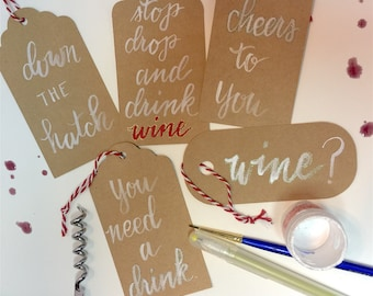 Wine Gift tags (set of 8)