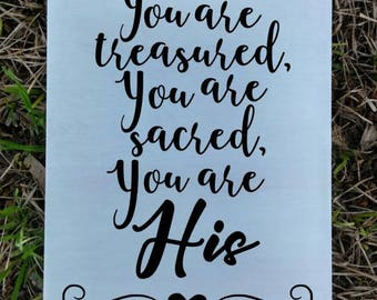 You Are His Wood Sign, You're Beautiful Wood Sign, Worship Music, Song Lyrics, Christian Art, Home Decor, Gallery Wall, Wood Sign, Gift