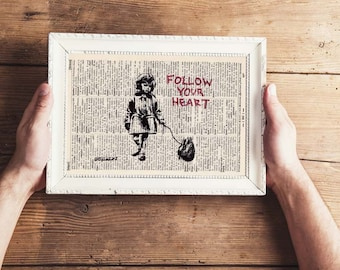 Pressure Scampi-Follow your heart-on antique page-landscape format